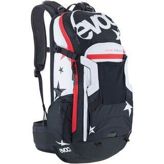 Evoc FR Trail Unlimited, black/white - Fahrradrucksack