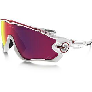 Oakley Jawbreaker Road Tour de France Prizm, polished white - Sportbrille