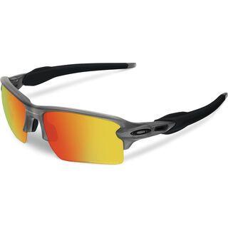 Oakley Flak 2.0 XL, matte grey smoke/fire iridium polarized - Sportbrille