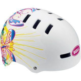 Bell Fraction, white butterflies - Fahrradhelm