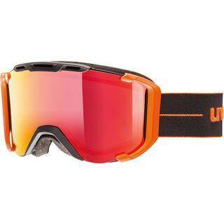 uvex snowstrike FM, black-orange mat/Lens: mirror red - Skibrille