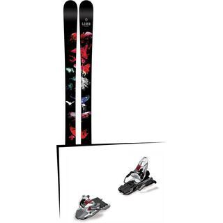 Set: Line Chronic 2016 + Marker Free Ten 100 mm, white/black/anthracite - Skiset