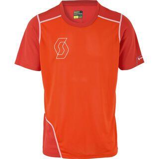 Scott Trail Tech 30 s/sl Shirt, red/tangerine orange - Radtrikot