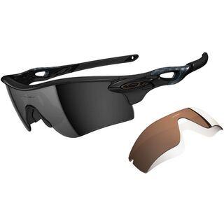 Oakley Radarlock Path, Polished Black/Black Iridium Polarized & VR28 Black Iridium - Sportbrille