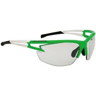 Alpina Alpina Eye-5 HR VL+, green-white-black/Varioflex black - Sportbrille
