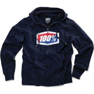 100% Official Full-Zip, navy - Hoody