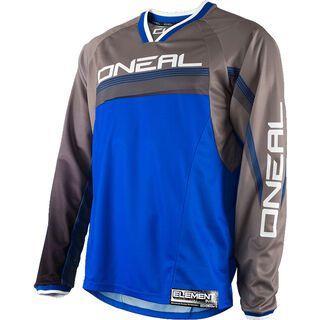 ONeal Element FR Long Sleeve Jersey, blue/grey - Radtrikot