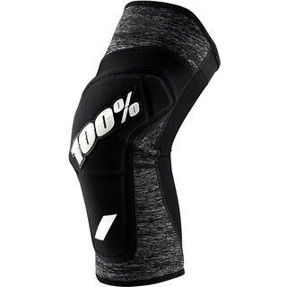 100% Ridecamp Knee Pad, grey heather / black - Knieschützer