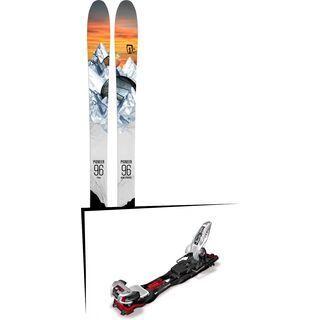Set: Icelantic Pioneer 96 2018 + Marker Baron EPF 13 black/white/red