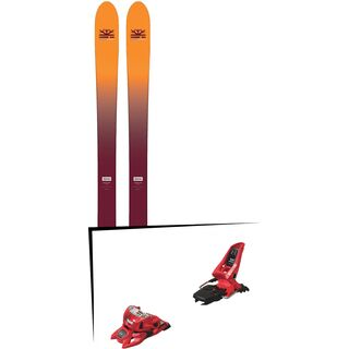 Set: DPS Skis Wailer F99 Foundation 2018 + Marker Squire 11 ID red
