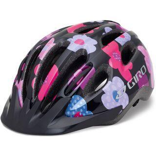 Giro Flurry II, black/hot pink flowers - Fahrradhelm