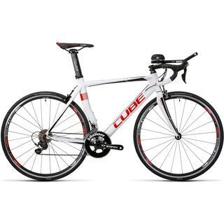 Cube Aerium HPA Pro 2016, white´n´red - Triathlonrad