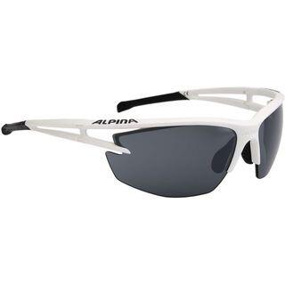 Alpina Alpina Eye-5 HR CM+, white matt black/Lens: ceramic mirror+ black - Sportbrille