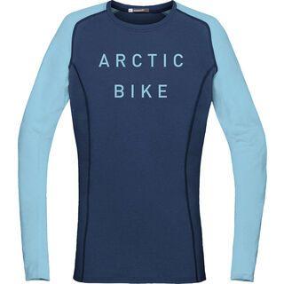 Norrona fjørå equaliser lightweight Long Sleeve (W), indigo night/trick blue - Radtrikot