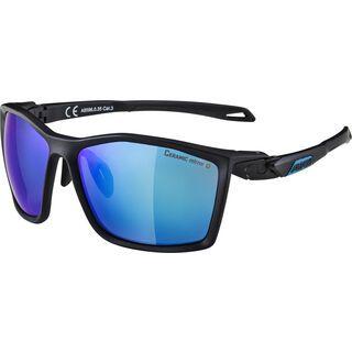 Alpina Twist Five CM+, black matt/Lens: ceramic mirror blue - Sportbrille