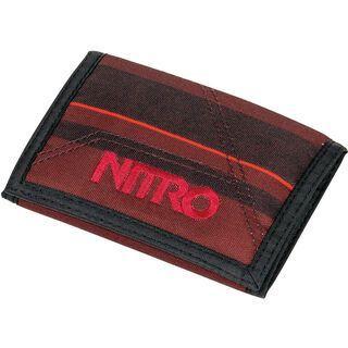 Nitro Wallet, red stripes - Geldbörse