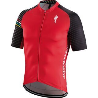 Specialized SL Expert Jersey SS, red/white aspect - Radtrikot