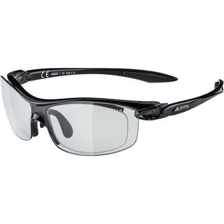Alpina PSO Twist Four VL+, black/Lens: varioflex mirror black - Sportbrille