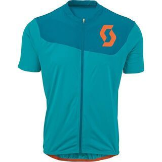 Scott AMT B s/sl Shirt, medium blue/orange - Radtrikot