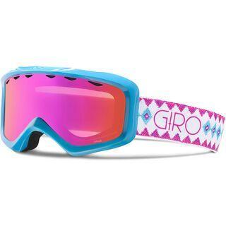Giro Grade, white aqua beaded/Lens: amber pink - Skibrille