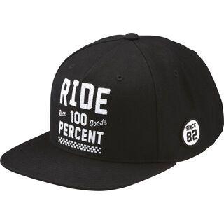 100% Ride Snapback Hat, black - Cap