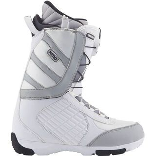 Nitro Riot TLS, White-Black-Gray - Snowboardschuhe