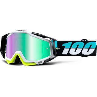 100% Racecraft inkl. Wechselscheibe, st barth/Lens: mirror green - MX Brille