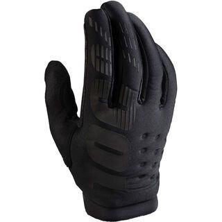 100% Brisker Cold Weather Glove, black/grey - Fahrradhandschuhe