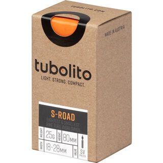 Tubolito S-Tubo Road 80 mm - 700C x 18-28C orange
