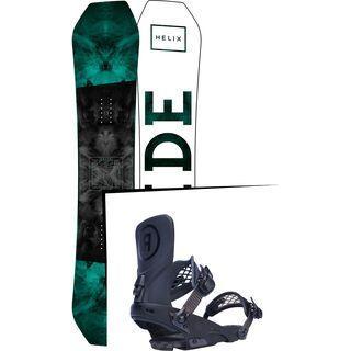 Set: Ride Helix 2017 + Ride LTD 2017, black - Snowboardset