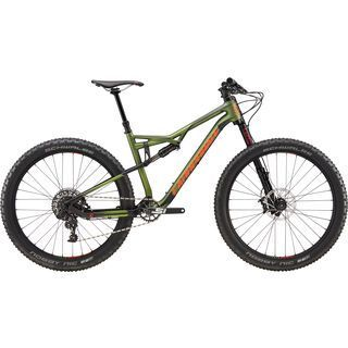 Cannondale Bad Habit Carbon 2 2017, mil green/black/red - Mountainbike