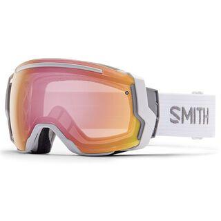 Smith I/O 7 Photochromatisch + Spare Lens, white/red sensor mirror - Skibrille