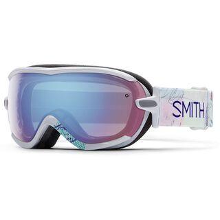 Smith Virtue, white wanderlust/blue sensor mirror - Skibrille