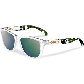 Oakley Frogskins Koston Collection, clear camo/emerald iridium - Sonnenbrille