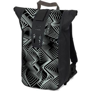 Ortlieb Velocity Design Kaleidoscope, black-ice white - Kuriertasche