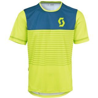 Scott Trail Flow s/sl Shirt, yellow/blue - Radtrikot