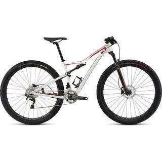 Specialized Era Expert Carbon 2015, Gloss Metallic White/Flo Red/Charcoal - Mountainbike