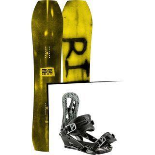 Set: Ride Warpig Small 2017 + Nitro Pusher 2017, black - Snowboardset