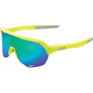 100% S2 inkl. WS, fluorescent yellow/Lens: green ml mir - Sportbrille