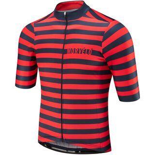 Morvelo Mellow Standard SS Jersey, navy/red - Radtrikot