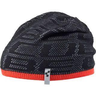 Cube Beanie Logo Blackline, anthracite´n´red - Mütze