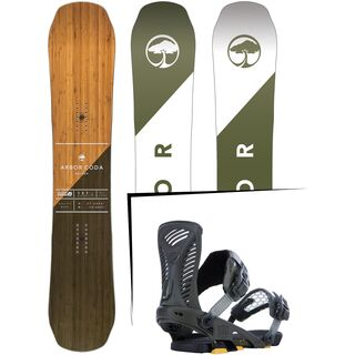 Set: Arbor Coda Rocker 2017 + Ride Capo 2015, matte olive - Snowboardset