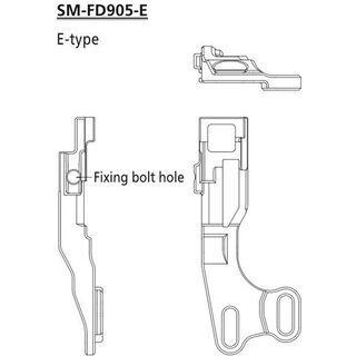 Shimano Umwerfer-Adapter XTR für FD-M9050/9070 (Di2) - E-Type