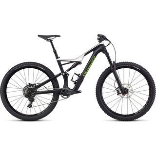 *** 2. Wahl *** Specialized Stumpjumper FSR Comp Carbon 650B 2017, black/silver/mo green - Mountainbike | Größe L // 46,8 cm