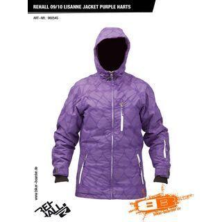 Rehall Lisanne Jacket, purple hearts - Snowboardjacke