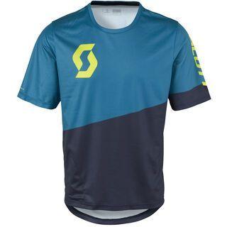 Scott Progressive Pro s/sl Shirt, blue/yellow - Radtrikot