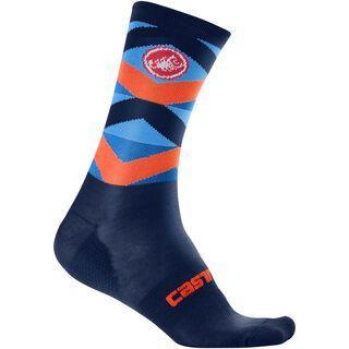 Castelli Fatto 12 Sock, dark blue/orange - Radsocken