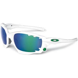 Oakley Racing Jacket Vented, Matte White/Jade Iridium & P42 - Sportbrille