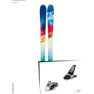 K2 SKI Set: SuperBright 90 2014 + Marker Squire 11
