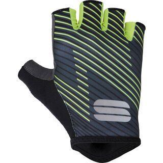 Sportful BodyFit Team Faster Gloves, black/grey/fluo - Fahrradhandschuhe